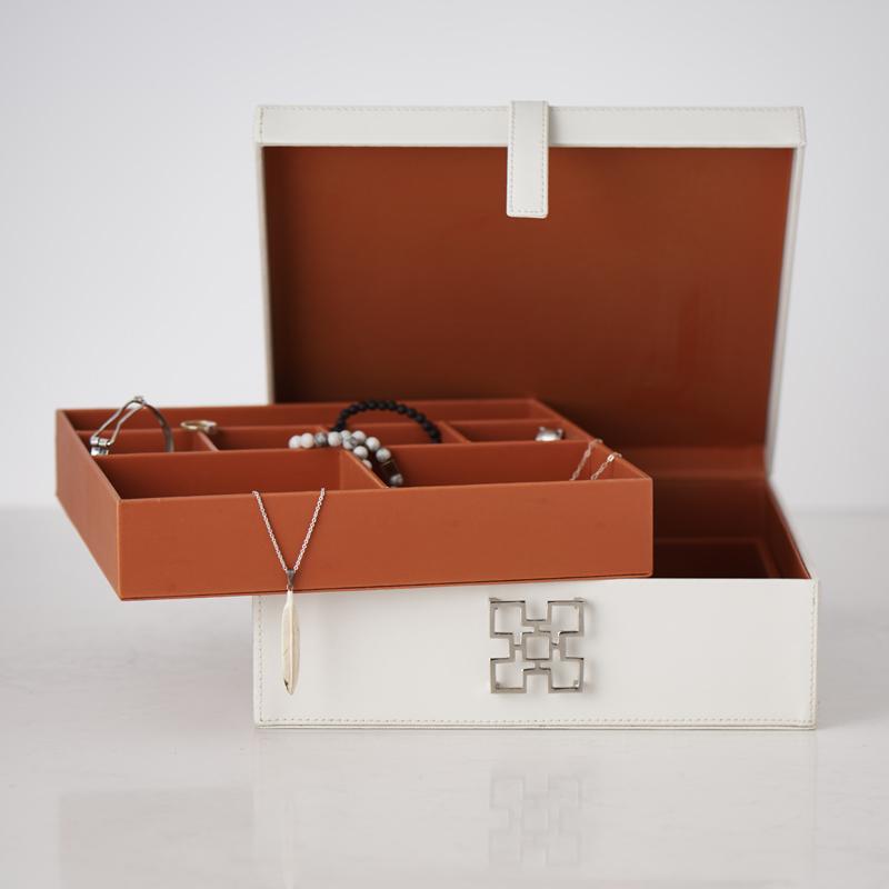 200522 Bates Design Product Shots0723 1 white leath jewel box open