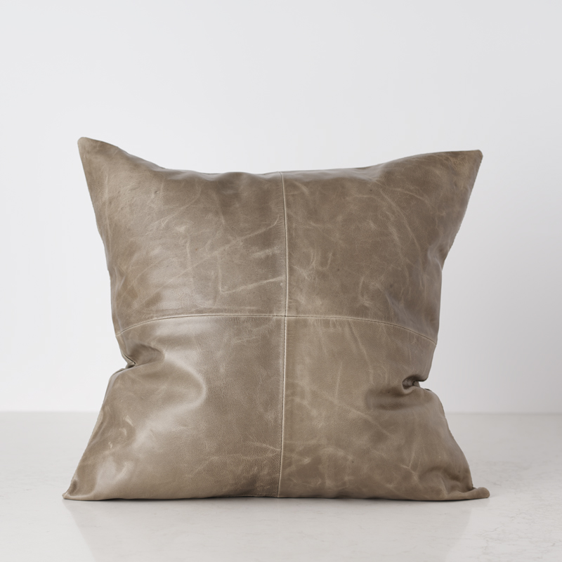 200522 Bates Design Product Shots0756 tan leath pillow